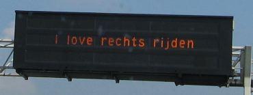 Dutch road sign
