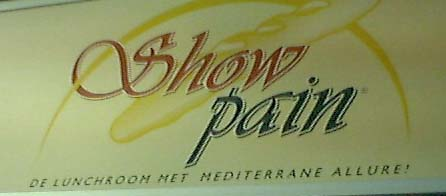 showpain - cafe name