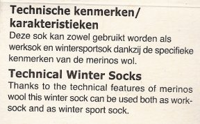 Sock label